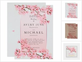 Pink Cherry Blossom Spring Wedding suite