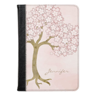 Pink Cherry Blossom Tree Kindle Fire Folio at Zazzle