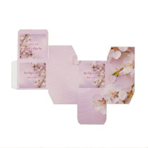 Pink Cherry Blossom Wedding Favor Box