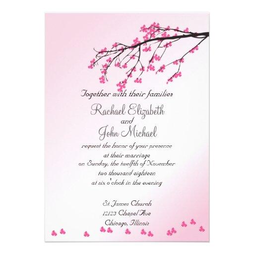 Cherry Blossoms Wedding Invitations 006 - Cherry Blossoms Wedding Invitations