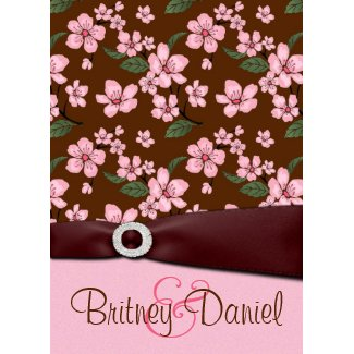 Pink Cherry Blossom Wedding Invitations invitation