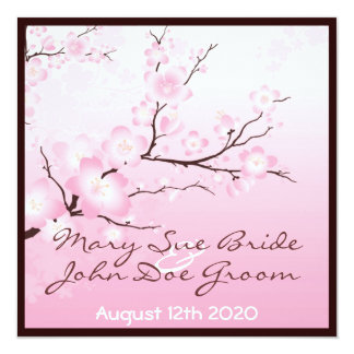 Pink Cherry Blossom Wedding Invitations