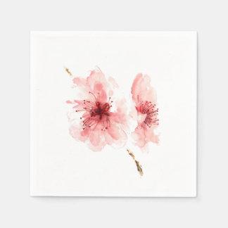 Pink cherry blossom white decorativ paper napkins disposable napkins