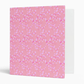Pink Cherry Blossoms 3 Ring Binders