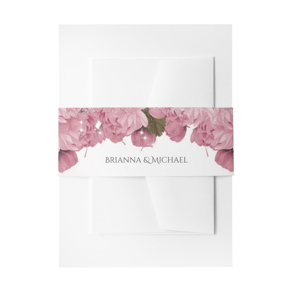 Pink Cherry Blossoms and Butterflies Wedding
