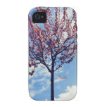 Pink Cherry Blossoms and Cloudy Sky Case-Mate iPhone 4 Cover
