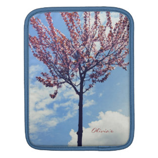 Pink Cherry Blossoms and Cloudy Sky iPad Sleeve