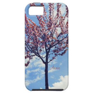 Pink Cherry Blossoms and Cloudy Sky iPhone SE/5/5s Case