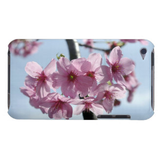Pink cherry blossoms and light-blue sky barely there iPod case