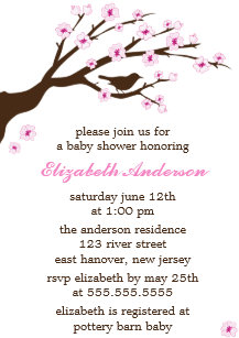 Cherry blossom baby shower invitations zazzle pink cherry blossoms baby shower invitation filmwisefo