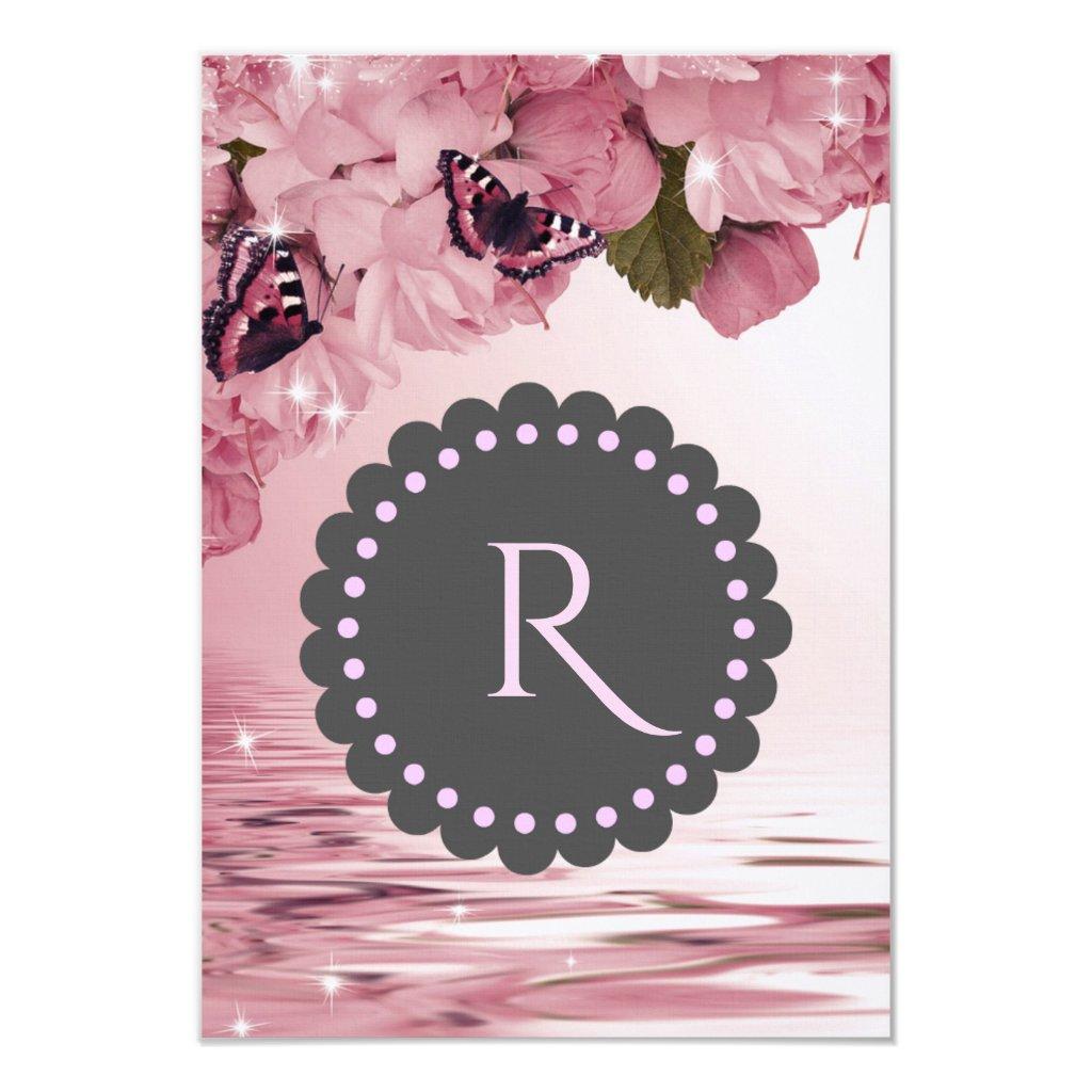 Pink Cherry Blossoms Butterflies Wedding Response