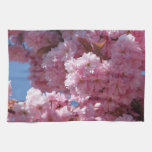 Pink Cherry Blossoms Hand Towels