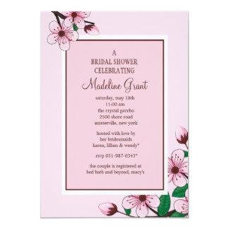 """Pink Cherry Blossoms Invitation 5"""" X 7"""" Invitation Card"""