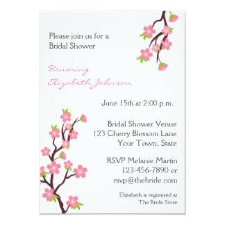 Pink Cherry Blossoms Invitation