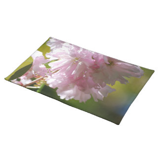 Pink Cherry Blossoms Placemat Cloth Place Mat