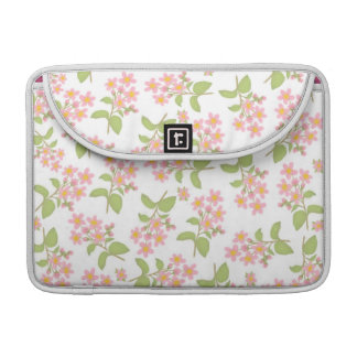 Pink Cherry Blossoms Rickshaw Flap Sleeve Sleeve For MacBooks