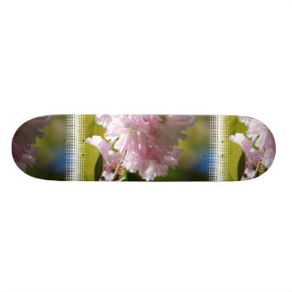 Pink Cherry Blossoms Skateboard