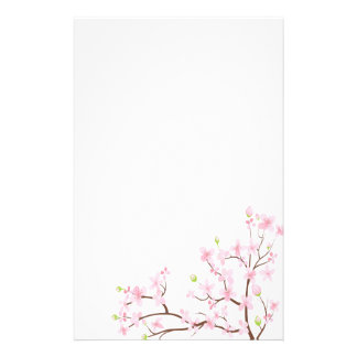 Pink Cherry Blossoms Stationery