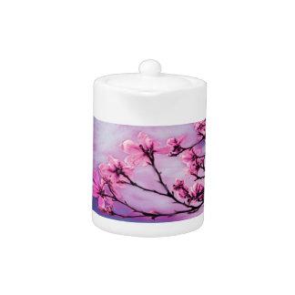 Pink Cherry Blossoms Teapot