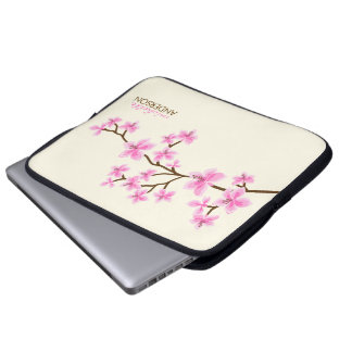 Pink Cherry Blossoms Tree Laptop Computer Sleeve