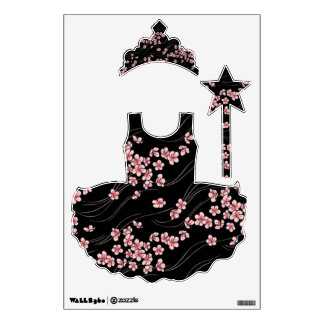 Pink cherry blossoms wall sticker