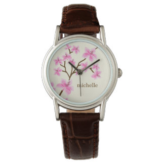 Pink Cherry Blossoms Watch