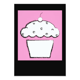 pink cherry cupcake card