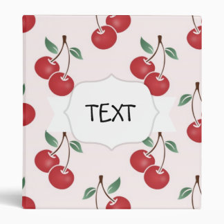 Pink Cherry Pattern Binder