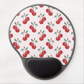 Pink Cherry Pattern Gel Mouse Pad