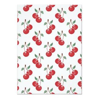 Pink Cherry Pattern 4.5x6.25 Paper Invitation Card
