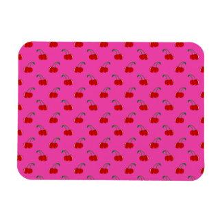 Pink cherry pattern magnet