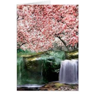 Pink Cherry Sakura Japanese Blossom Tree Card