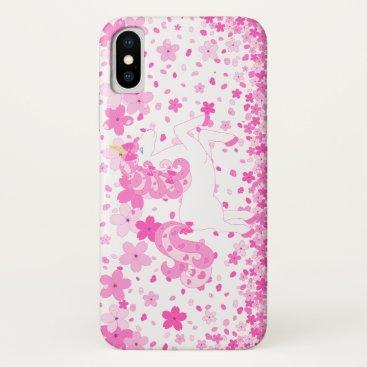 Pink Cherry Unicorn iphone X case