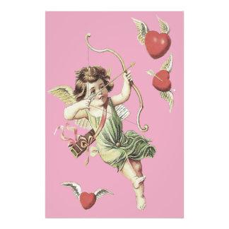 Pink Cherub Cupid Heart Bow Arrows Photo