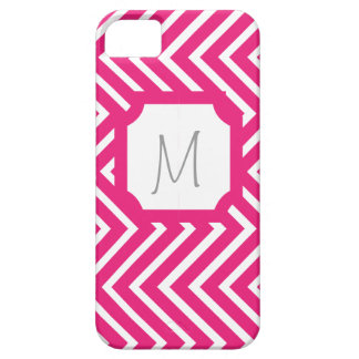 Pink Cheveron Monogram Case iPhone 5/5S Cases