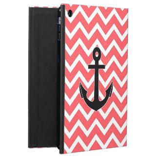 Pink Chevron Anchor iPad Air Covers