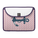 Pink Chevron Anchor Nautical Sleeves For MacBook Pro
