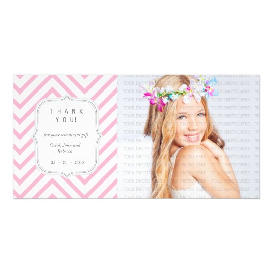 Pink Chevron - Any Occasion Thank you Card