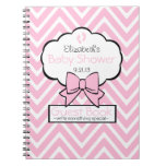 Pink Chevron Baby Shower Guest Book Note Books
