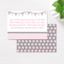Pink Chevron Book Request Cards