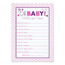 Pink Chevron Butterfly Wishes for Baby Cards