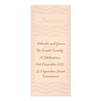 Pink Chevron Celebration Invitation