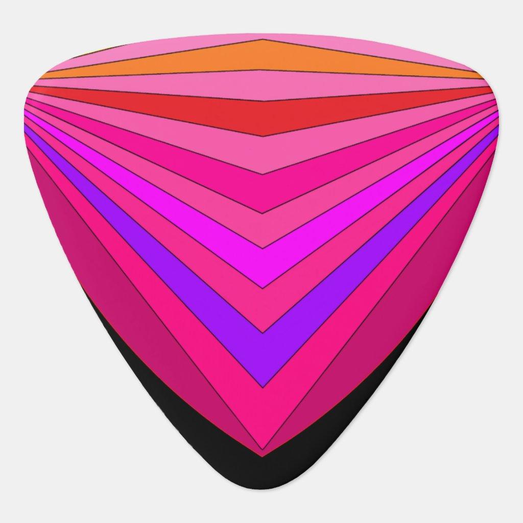 Pink Chevron Colorbands 80s Rock Guitar Pick 2