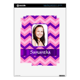 Pink chevron decal for iPad 3