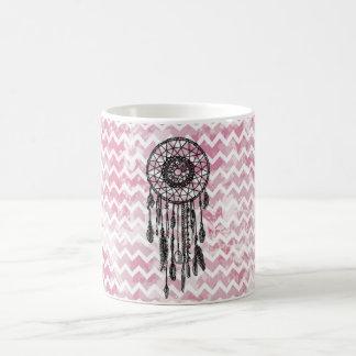 Pink Chevron Dreamcatcher Coffee Mug