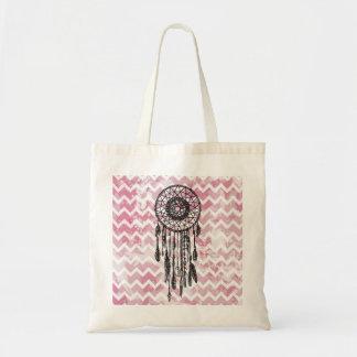 Pink Chevron Dreamcatcher Tote Bag