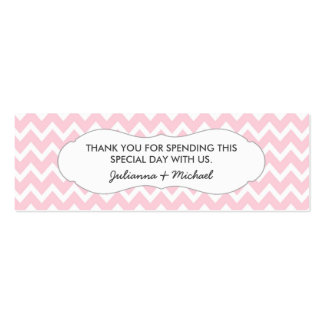 Pink Chevron Favor Tag / baby shower / wedding Mini Business Card