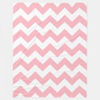 Pink Chevron Fleece Blanket