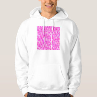 Pink Chevron Foil Pink and White Geometric Pattern Hoodie