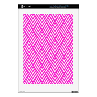 Pink Chevron Foil Pink and White Geometric Pattern PS3 Decal